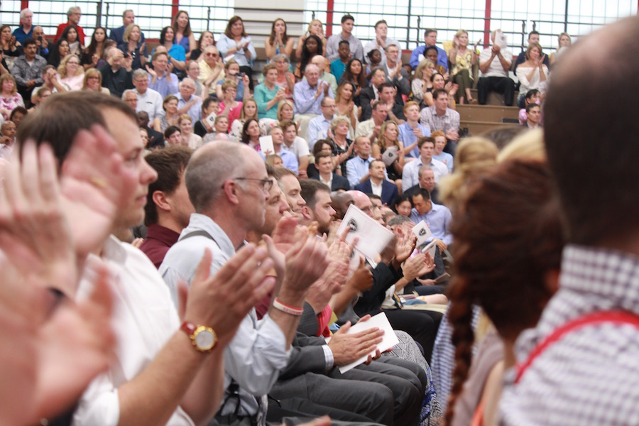 The Haben Center was filled with family members and friends, and, of course, teachers were present at graduation as well.