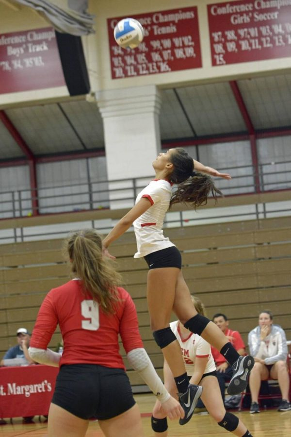 Junior Maizy Jackson helps lead the volleyball team to success.