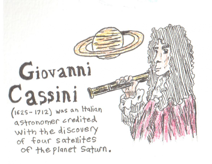Illustration of Giovanni Cassini, who the Cassini probe is named after.