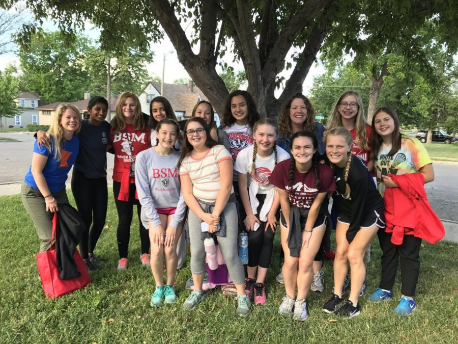 The mission trip group helped volunteer in an impoverished South Dakota community.