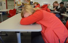 Many students found it hard to stay awake at school the week after homecoming.