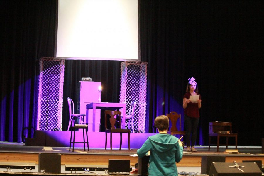 Ellie Turk prepares for her leading role in the fall play.