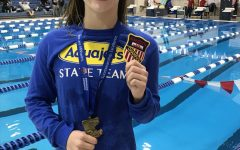 Freshman Taylor Williams stars on the girls' swim team