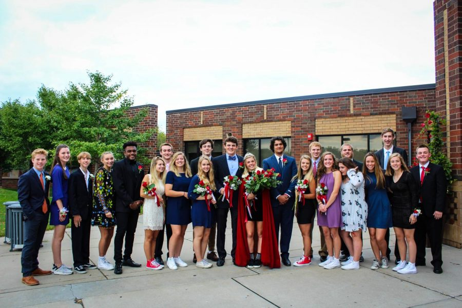The+Homecoming+Court+gathered+outside+for+pictures.