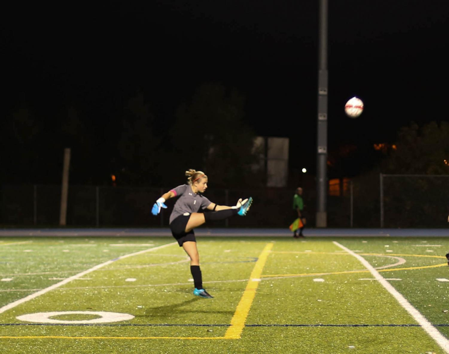 Senior captain and goalkeeper Claire Grazzini had an excellent season.