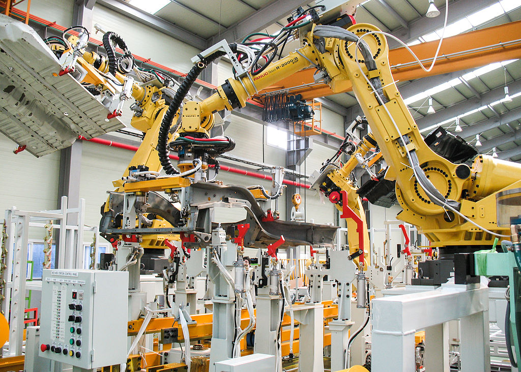 Robots are taking over factory production