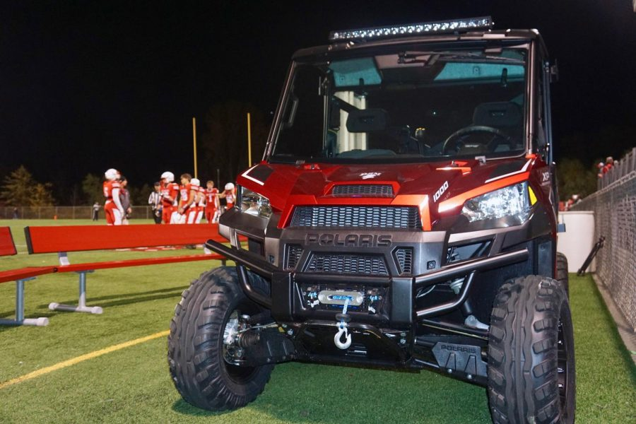 The ATV helped the football team move their supplies