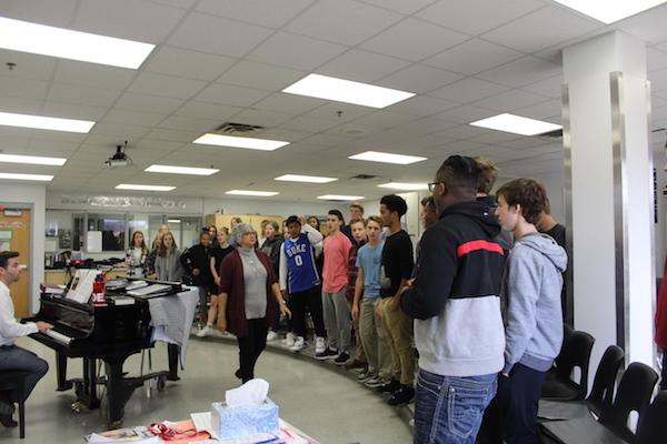 Peering in on freshman choir, the gender divide is quite noticeable.
