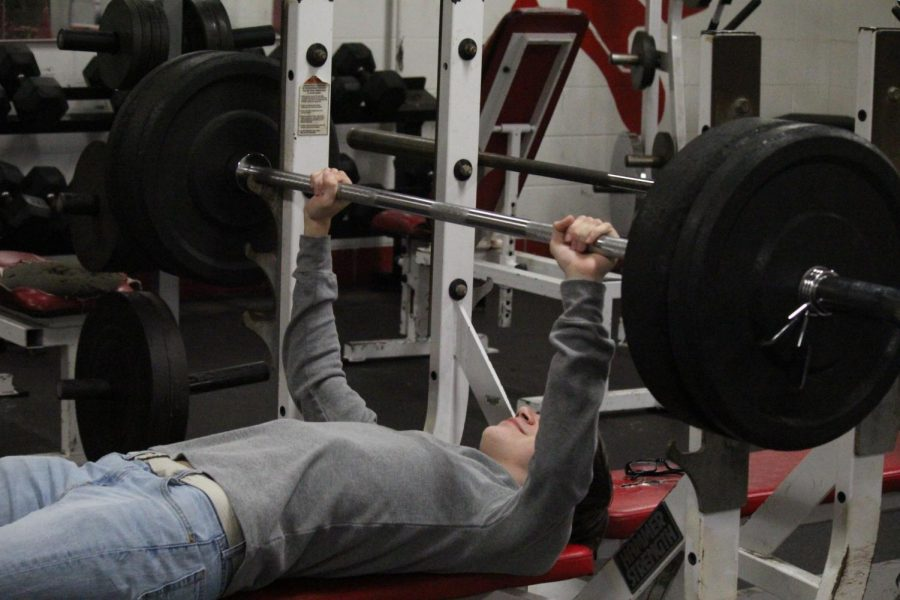 Plouff goes to the weight room and tries to work out.