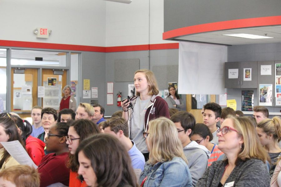 Junior Amelia Backes asks what the most important thing is for Colonel Vande Hei to focus on while in space.