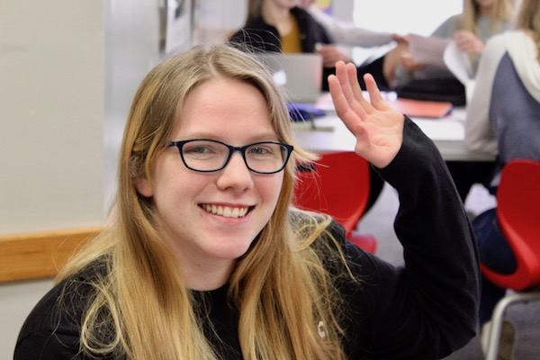 Schuldt tries to participate in class and raise her hand more.