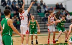 BSM boys' basketball player Joe Dunn wears jersey number 23