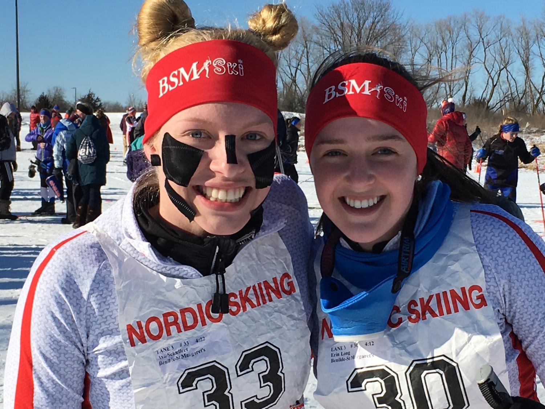 BSM nordic skier Ava Schieffert (left) is hoping to go to Nationals.