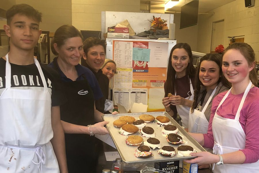 Seven students were invited to bake whoopie pies with Chef Kamika Wheezy.