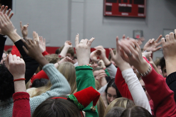Every year, seniors crowd the middle of the Great Hall to sing Christmas carols.