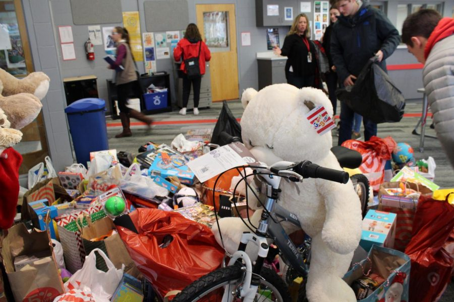 Students donated toys to Toys for Tots.