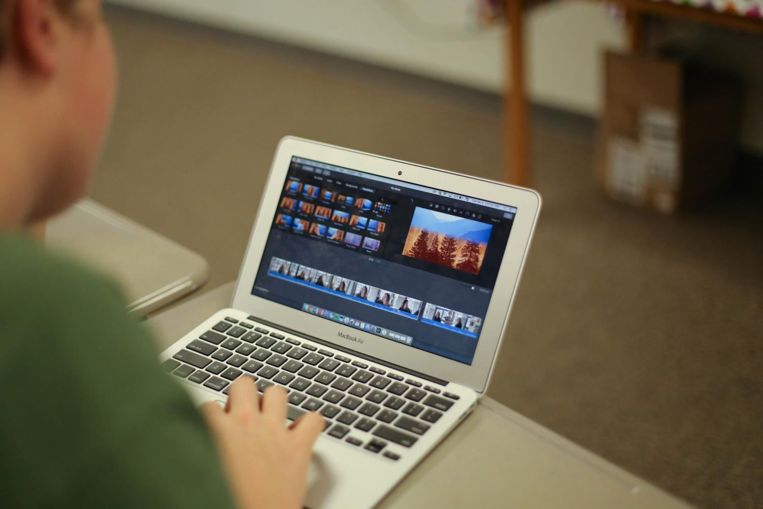 Sophomore Wes Kirchner spends time creating short films.