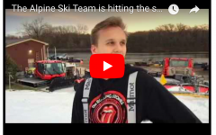 BSM alpine ski started practicing before first snow fall