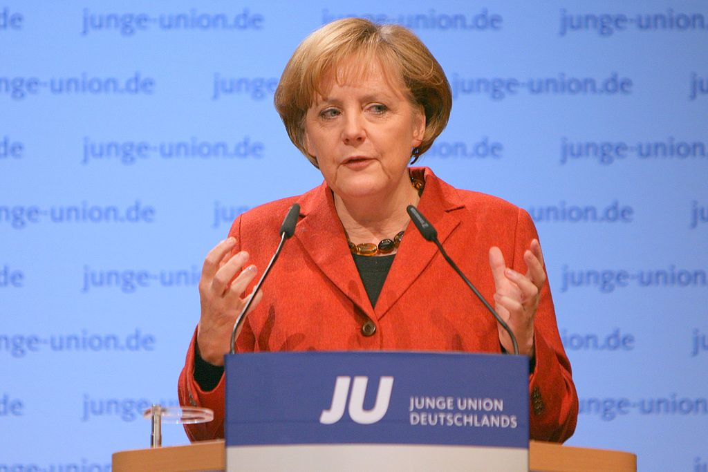 Angela Merkel, the Chancellor of Germany, is one of the few female heads of state.