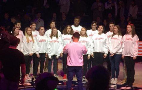 Red Knotes sing at Timberwolves game