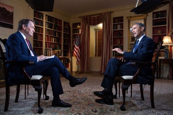 Charlie Rose interviews Barack Obama