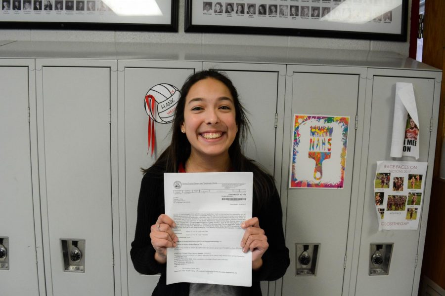 It took a lot of hard work and dedication for senior Felisha Fox to receive a patent for her device.