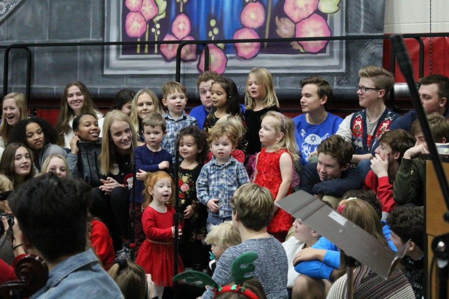 Little Knights sang during the Christmas mass to celebrate the holidays.