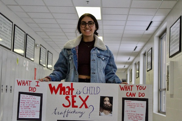 Senior Celiena Davis hopes to pursue a career helping victims of sex trafficking.