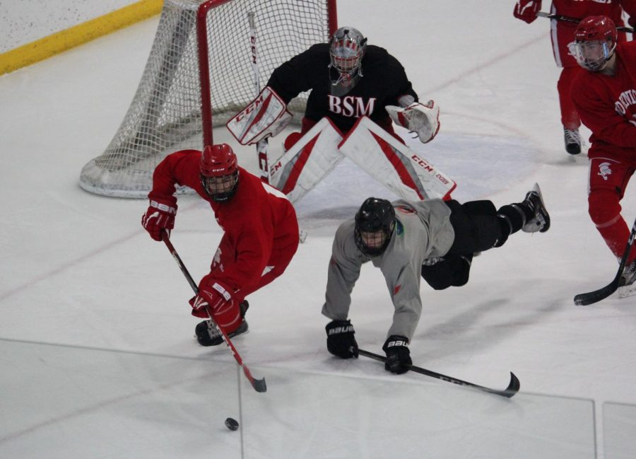 Boys' hockey was just one of the many teams to play rivals over break.