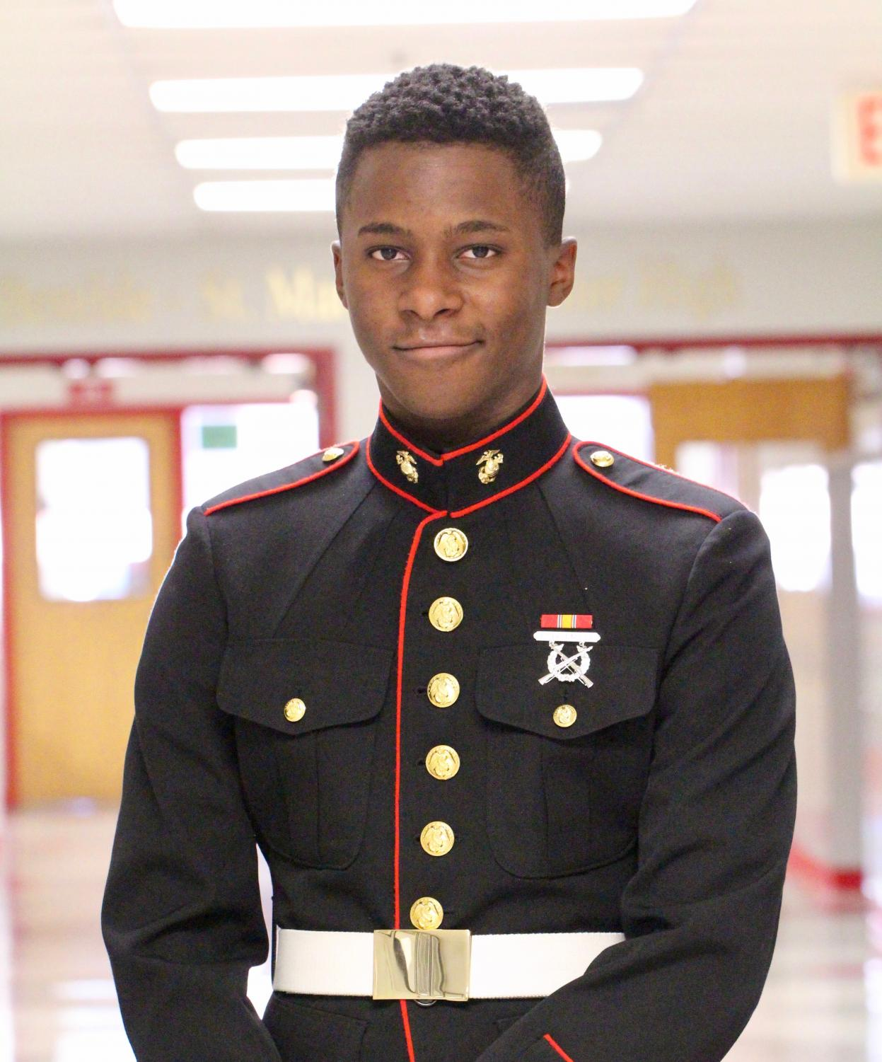 Kameron Herndon decided to push himself by joining the Marine Corps.