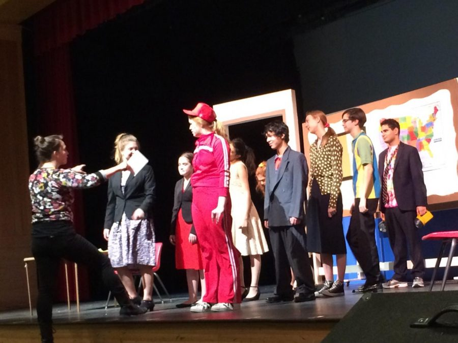 The One Act cast prepared for sections all week.