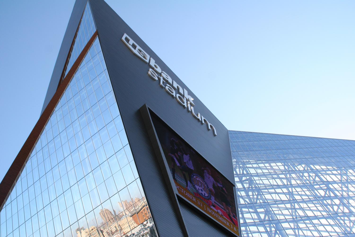 The US Bank Stadium hosted the 2018 Super Bowl.