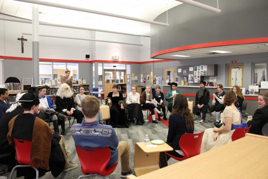 The AP Euro students held an Enlightenment Salon on Friday, February 9.
