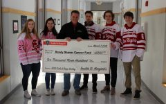 Randy Shaver Fund receives donation from the BSM hockey teams