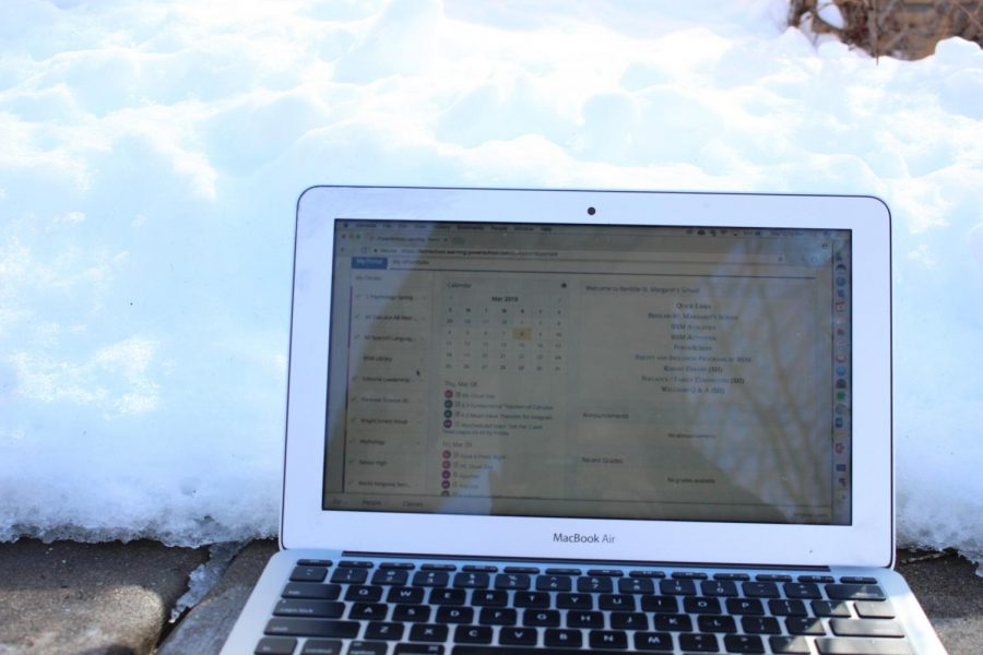 BSM students use Powerschool Learning (formerly Haiku) to work on school assignments during snow days. However, BSM doesn't have as many snow  days as it should.