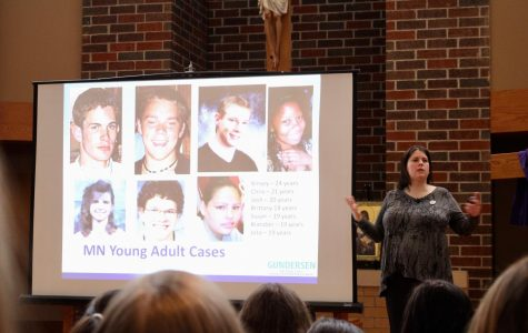 Speaker from the Jacob Wetterling Resource Center discusses safety with seniors