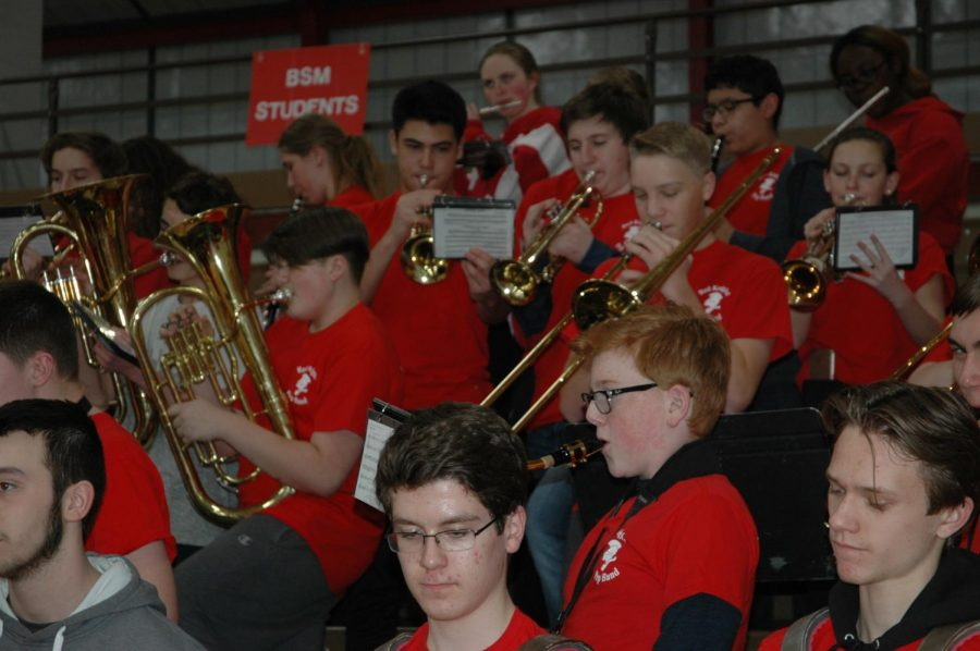 BSM's Pep Band provides catchy tunes for audiences and an opportunity for experience and development for its members