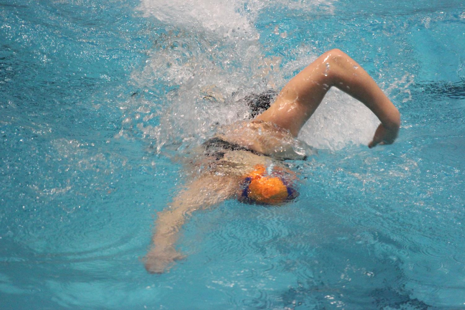 Freshman Taylor Williams experienced similar success on BSM's girls' swim team.