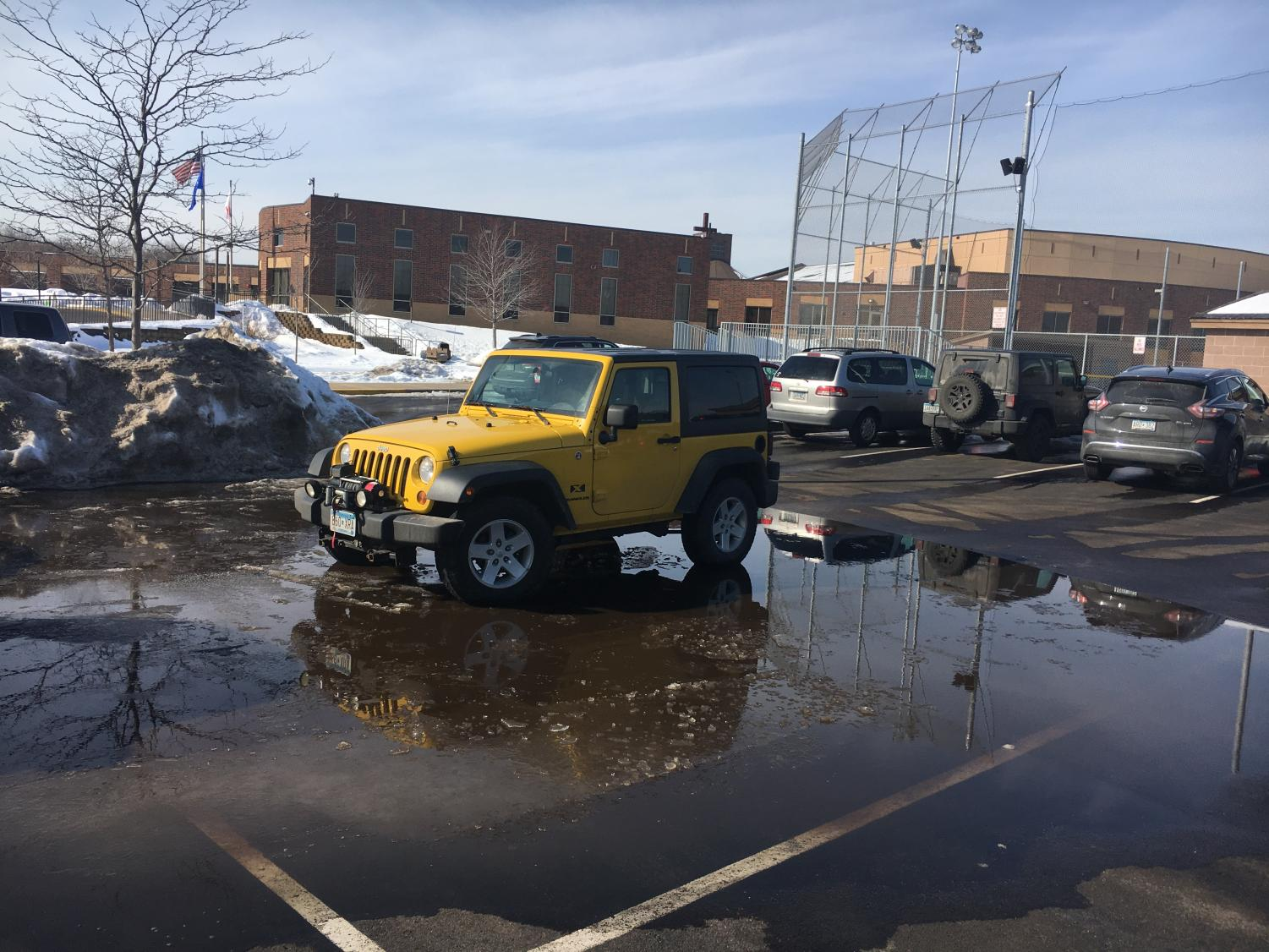 Senior Dylan Boyd flaunts his aquatic parking prowess.