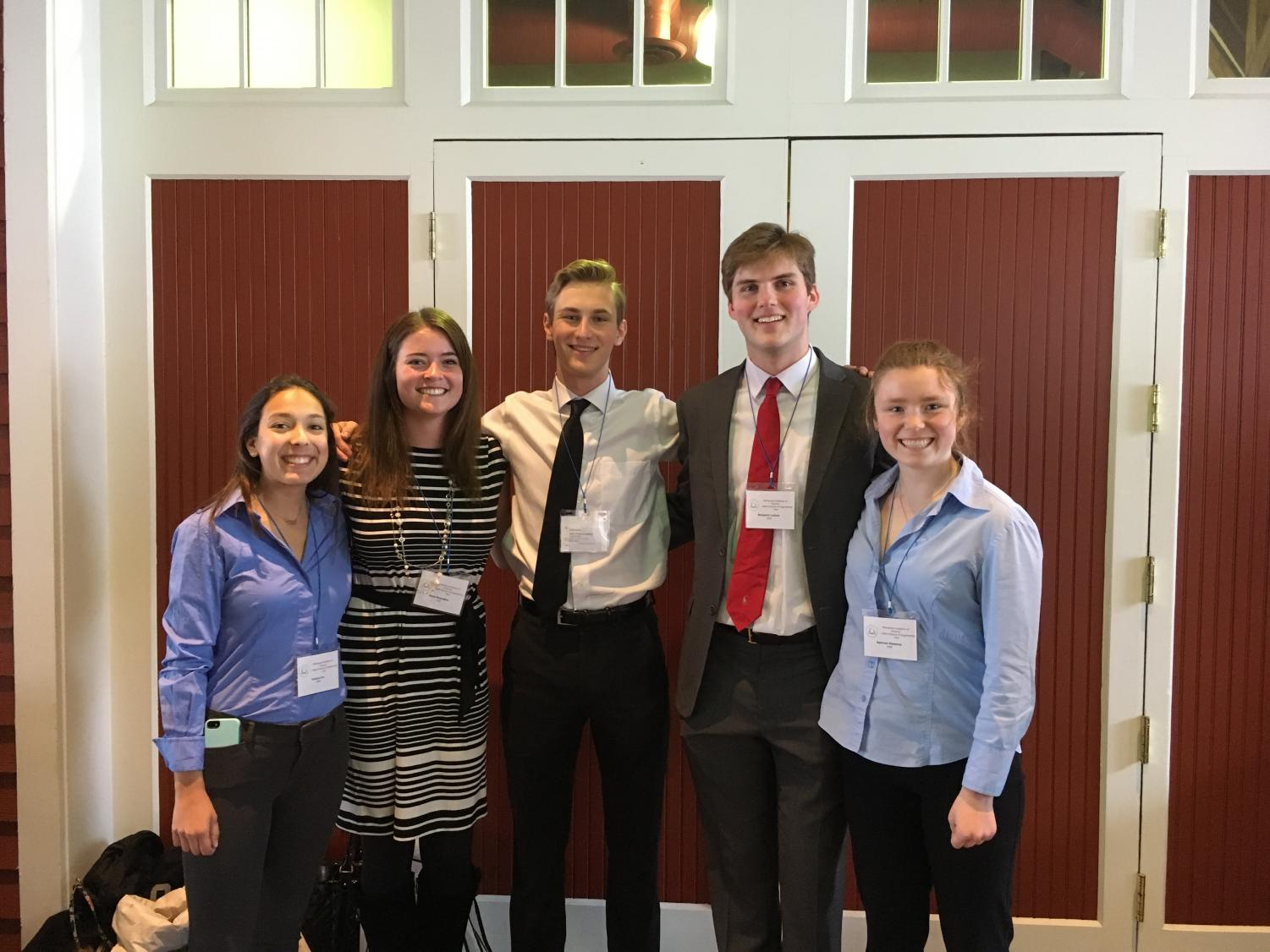 BSM sent five seniors, Felisha Fox, Alexa Reynders, Mikey Pupel, Ben Larson, and Spencer Sweeney, to the State Science and Engineering Fair. There they competed for a chance to qualify for the Intel ISEF.