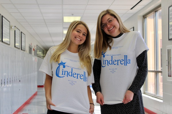 Former Cinderella and current Cinderella rep' their T-shirts for the upcoming show.