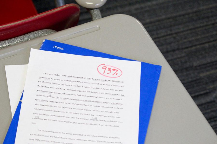 Students are given grades every day on their papers.
