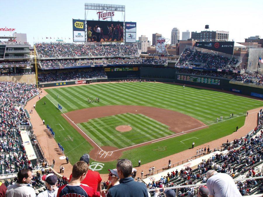 2010 baseball game at Target Field
