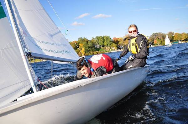Juniors Walker Mullin and Claire Leeper serve as the sailing team's official captains.