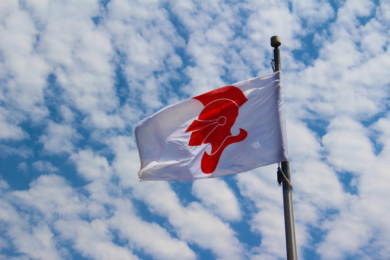 BSM flag flying high.