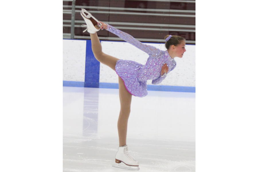 Sophomore Jordan Stanke has been figure skating for nine years.