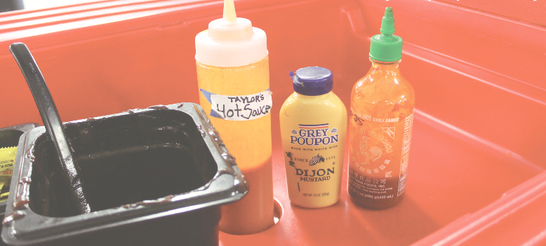 Taher provides several sauces every day for lunch. The question is which is the best.