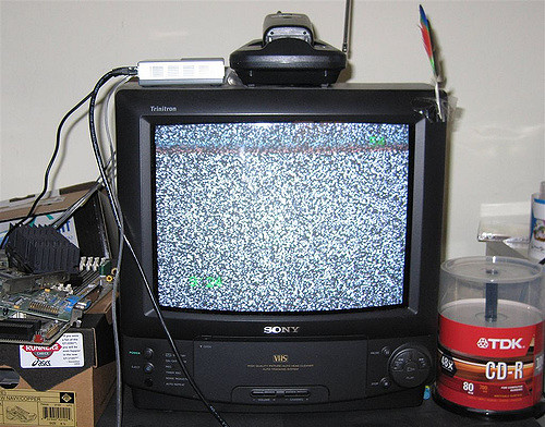 Watching shows on cable is just as outdated as this TV.