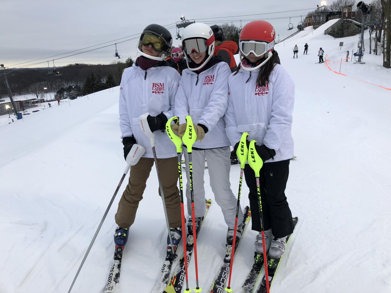 Alpine ski team preparing for upcoming races.