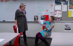 Teachers reenact scenes from